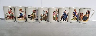 $ CDN79.09 • Buy Vintage 1986 Norman Rockwell Art Collective Mugs Set Of 8