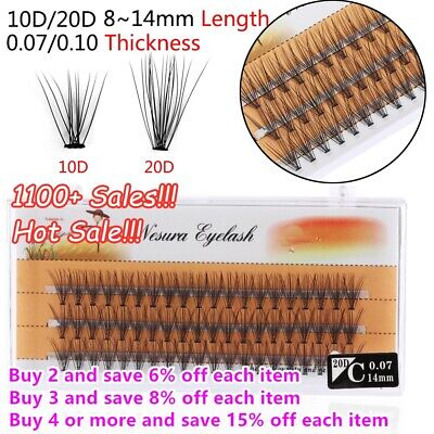 AU1.95 • Buy SK 60 Pcs Pro Makeup Individual Cluster Natural Eye Lashes False Eyelashes