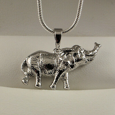 £4.99 • Buy 925 Sterling Silver Filled Elephant Pendant Necklace Chain Gift Idea UK