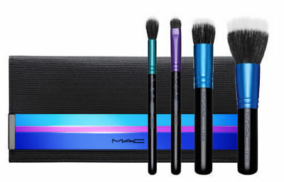 $32.50 • Buy MAC 4 Piece Enchanted Eye Brush Kit / Mineralize With Case NEW IN BOX