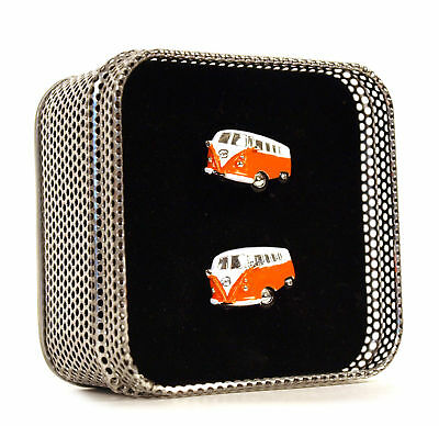 £19.99 • Buy Campervan - Swinging Sixties Cufflinks (Assorted Colours) Wedding Groom Best Man