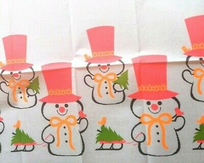 $ CDN3.64 • Buy NEW Vintage Christmas Holiday Kitschy Snowman Winter Tablecloth Party Decor NWT