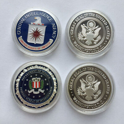 $12.99 • Buy US Military American CIA & FBI Silver Eagle Challenge Coin Collectible 2018 NEW
