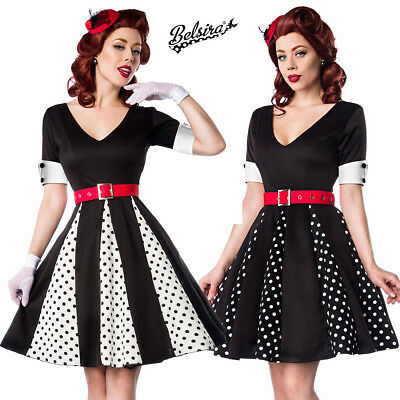 Abito Vintage Anni 50 Pin Up Rockabilly Retro Pois Vestito Gonna Svasata •  59.90€ 238bd3f3058