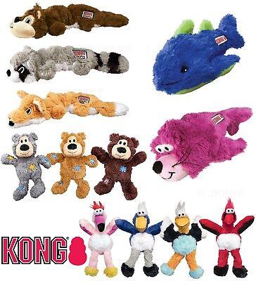 KONG Knots Dog Puppy Toy Soft Plush Squeaky Dogs Toys With Knotted Rope Interior • 9.50£