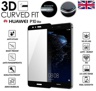 For Huawei P10 Lite Genuine Full 3D Tempered Glass 9H Screen Protector Cover • 2.85£