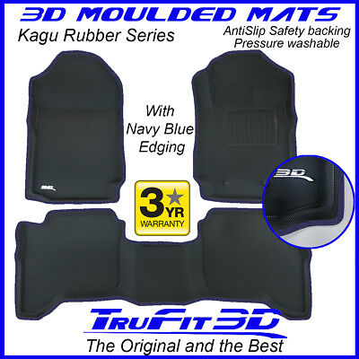 AU199 • Buy Fit Ford Ranger Dual Cab 2011-2021 Genuine 3D Rubber Floor Mat With Navy Edge