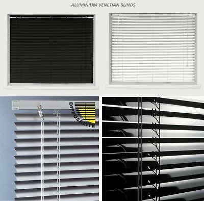 Aluminium Venetian Blinds Easy Fit 25mm Slats Trimmable Blinds Home Office New • 13.95£