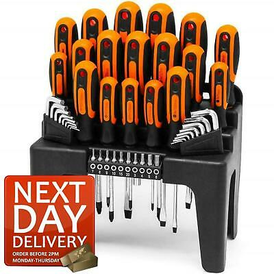 44pc Screwdriver Set Phillips Torx Star Slotted Hex Key Security Bits • 21.95£