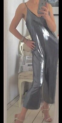 Topshop Silver Jumpsuit 12 New With Tags • 23.99£