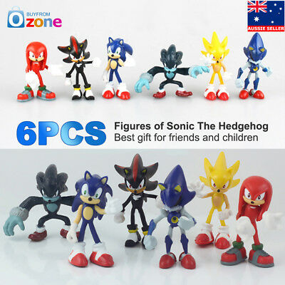 AU26.51 • Buy 6Pcs Sonic The Hedgehog Action Figure PVC Collection Toy Kids Gift