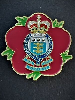 Royal Army Ordnance Corps RAOC Remembrance Flower Lapel Pin (P16) • 9£
