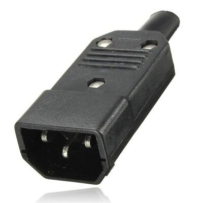 £0.99 • Buy 3 Pin Kettle Male High Quality  IEC DJ Mains Connector C14 10A Plug  UK