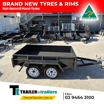AU2830 • Buy 9x5 TANDEM AXLE BOX TRAILER | 15  HIGH SIDES | CHECKERPLATE FLOOR | SPARE+JOCKEY