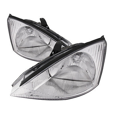 Headlights Pair Left Right Set Fits 2000-2004 Ford Focus • 71.99$