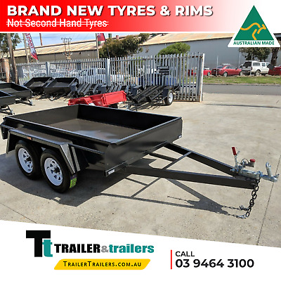 AU1800 • Buy 9x5 STANDARD TANDEM BOX TRAILER SALE   FIXED FRONT   NEW WHEELS   SMOOTH FLOOR