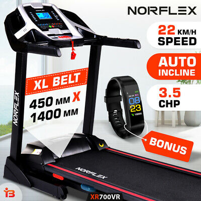 AU639 • Buy NORFLEX 450mm Belt Auto Incline Treadmill Gym Exercise Machine Fitness Tracker