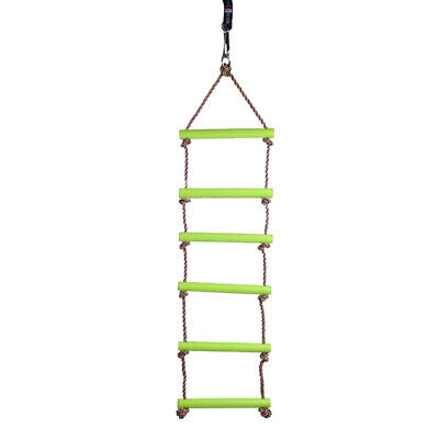 £13.54 • Buy Kids Indoor And Outdoor Playhouse 6 Rungs Rope Climbing Ladder Toy Gift