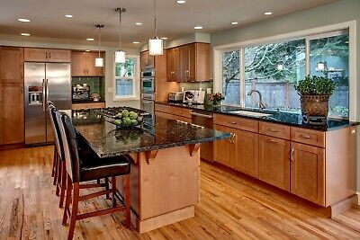 $5999.99 • Buy Fully Assembled All Wood 10X10 Shaker Kitchen Cabinets In Olmsted Maple Spice