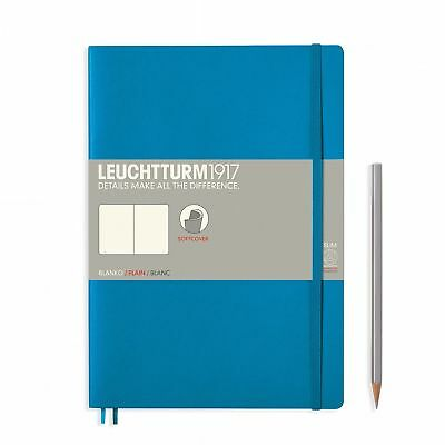 AU29.95 • Buy Leuchtturm1917 Notebook B5 Softcover Composition Plain - Azure