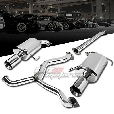 $280.88 • Buy 4 Dual Muffler Tip Stainless Steel Exhaust Catback System For 05-09 Legacy Gt