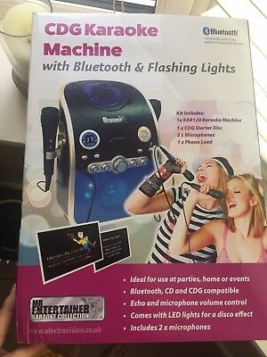CDG Karaoke Machine With Blue Tooth VGC • 40£