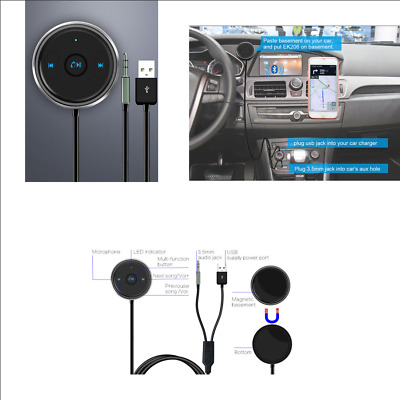 $15.89 • Buy AUX Bluetooth Adapter Hands Free Car Kit Audio Receiver Support Siri & Android