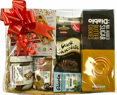 Diabetic Hamper Sugar Free Sweets Chocolate/Cookie/Spread Box Christmas Treats  • 27.99£