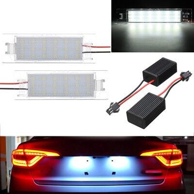 Led License Number Plate Light Vauxhall Opel Corsa C D Astra H J Insignia Vectra • 11.89£