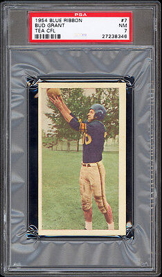 $5000 • Buy 1954 Blue Ribbon Tea #7 Bud Grant Highest Graded Hall Of Fame Rookie Card PSA 7+