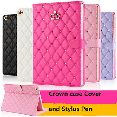 £8.59 • Buy Crown Biamond Bling Leather Case Cover For IPad 1/2/3/4/5/6 Air Pro 11 12.9 2020