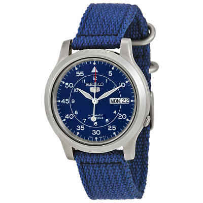 $ CDN108.73 • Buy Seiko 5 Blue Dial Blue Canvas Men's Watch SNK807