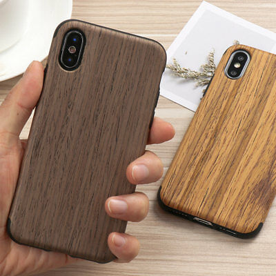 Luxury Ultra-Thin Natural Real Wood Wooden Case Cover For IPhone 11 XS XR 7 8 6s • 6.29£