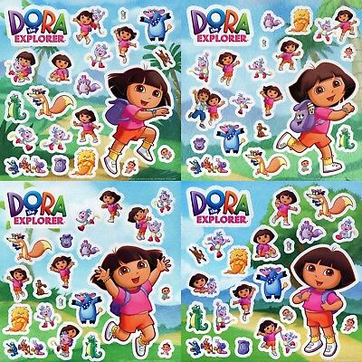 84 X Dora The Explorer - Wall Stickers Kids Party Bag Favours - Nickelodeon • 1.79£