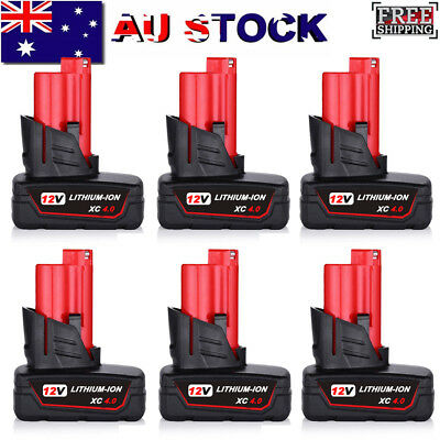 AU28.49 • Buy 12V For Milwaukee M12B6 LI-ION Extended Capacity Battery M12 XC 6.0AH 48-11-2440