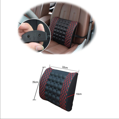 $ CDN24.31 • Buy Electric Massage Lumbar Cushion Pillow Car Seat Back Waist Support New Black Red