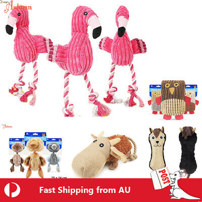 AU13.99 • Buy Dog Soft Squeaky Cloth Toy Pet Puppy Squeaker Plush Training Cotton Rope Bite