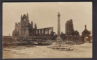 Yorkshire Yorks WHITBY Abbey Old Cross C1900/10s? RP PPC By Ross • 8£