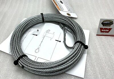 $43.82 • Buy WARN 69336 ATV Winch Replacement Cable 1.5 Winch - 5/32 X 50 FT.