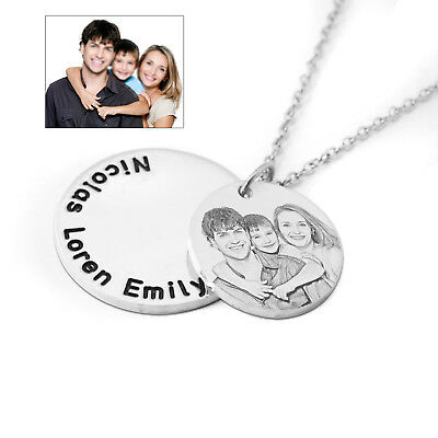 Personalized Photo Necklace Portrait Necklace Engraved Picture Necklace Mom Gift • 11.99£