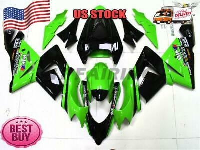 $509.99 • Buy Fit For Kawasaki 2004 2005 ZX10R Green Black Injection Fairing Plastic Kit C007