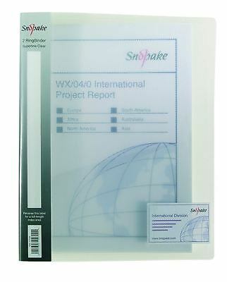 £8.60 • Buy Ring Binder 2 Ring A4 CLEAR - PACK OF 1. FREE P&P