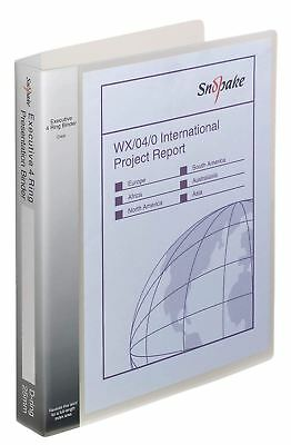 £13.62 • Buy Ring Binder 4D Ring A4 CLEAR - PACK OF 1. FREE P&P