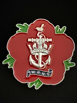 Womens Royal Navy Service WRNS Remembrance Flower Lapel Pin (P27) • 9£