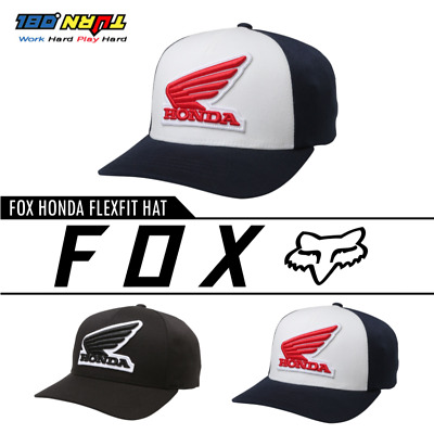 FOX RACING MEN S HONDA FLEXFIT HATS Fitted Curved Bill MOTO Caps Adult (2  Sizes) e03c5994a30e