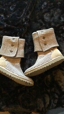 £77.88 • Buy Knitted Grey Ugg Australia Boots Size 8