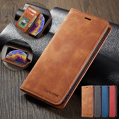 For Samsung S9 Plus S10 S8 Leather Wallet Flip Case Card Stand Shockproof Cover • 2.95£