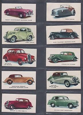 1949 Kelloggs Motor Cars Col & B/w- Complete Your Set, Select The Cards You Need • 1.49£