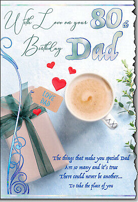£4.25 • Buy Dad 80th Birthday Card Quality Lovely Verse