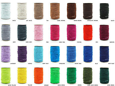 $ CDN30.80 • Buy 2mm Nylon Coated Round Elastic Cord Rubber Stretch String Jewelry Beading Craft